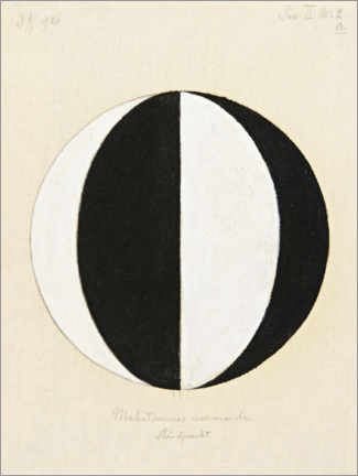 Print på aluminium  The Mahatma's current point of view - Hilma af Klint