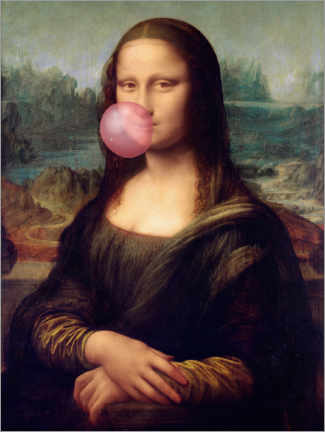 Lærredsbillede  Mona Lisa with chewing gum