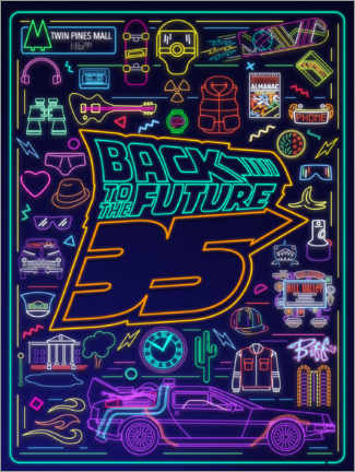 Premium-plakat  Back to the future - neon items