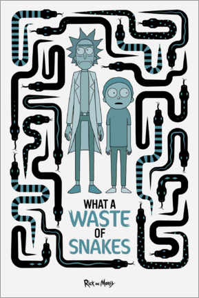 Print på skumplade  Rick and Morty - Waste of Snakes