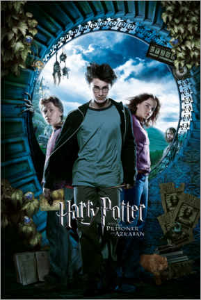 Premium-plakat  The Prisoner of Azkaban - Trio