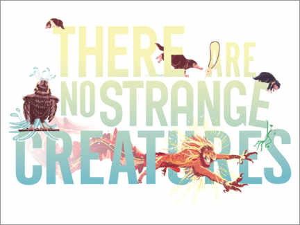 Premium-plakat  There are no strange creatures - Newt citat