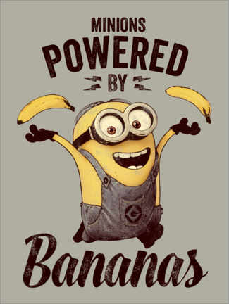 Akrylbillede  Minions - Powered by Bananas