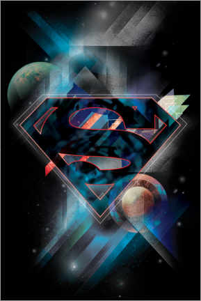 Selvklæbende plakat  Superman Iconic Space Shield