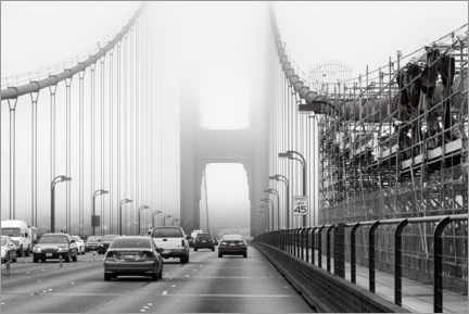 Premium-plakat Traffic on the Golden Gate Bridge
