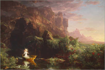Akrylbillede  The journey of life, childhood - Thomas Cole