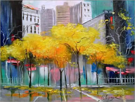 Akrylbillede  Autumn in Chicago - Olha Darchuk