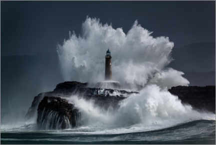 Lærredsbillede  Lighthouse in the waves - Jesus Concepcion Alvarado