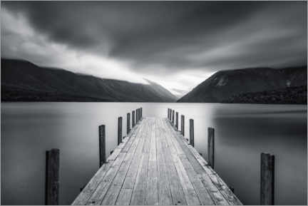 Lærredsbillede  Clouds over Lake Rotoiti, New Zealand - Markus Lange