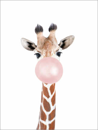 Premium-plakat  Bubble gum Giraffe - Sisi And Seb