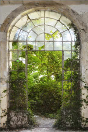 Akrylbillede  View into the green - Claudia Moeckel