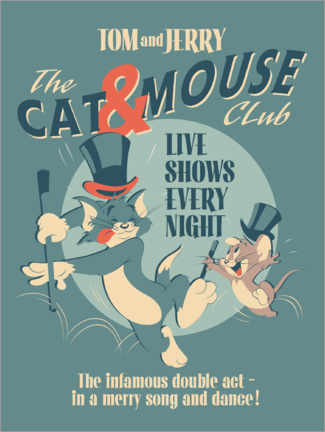Galleritryk  Tom and Jerry - Cat and Mouse Club