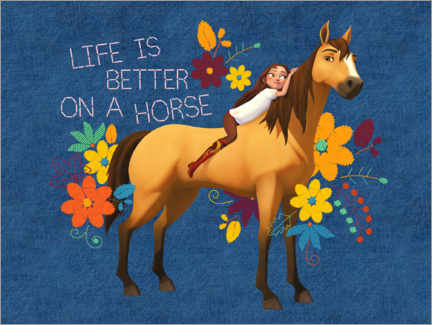 Premium-plakat  Life is better on a horse