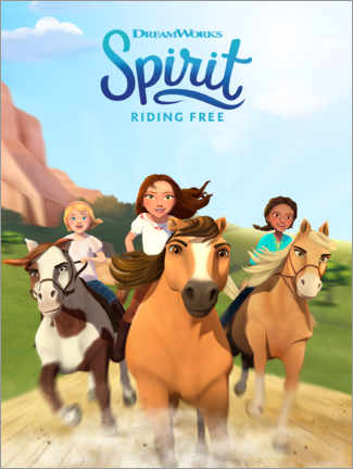 Print på træ  Spirit Riding Free