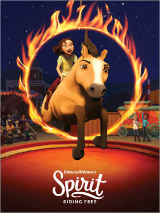 Print på træ  Spirit Riding Free - Manege