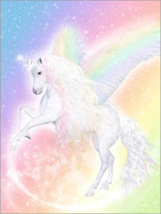 Lærredsbillede  Unicorn Pegasus - Enchant your life - Dolphins DreamDesign