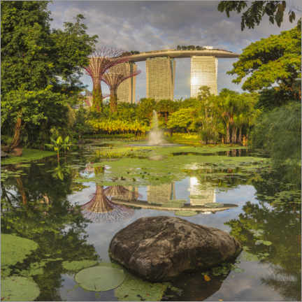 Premium-plakat  Marina Bay Sands and Supertrees, Singapore - Markus Lange