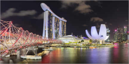 Premium-plakat  Marina Bay at night, Singapore - Markus Lange