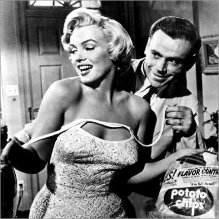 Akrylbillede  The Seven Year Itch - Potato Chips - Celebrity Collection