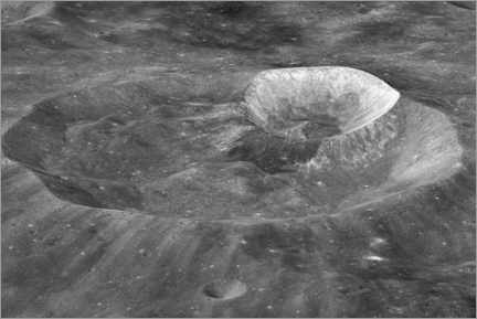 Lærredsbillede  Joule-T and Wargo craters of the moon - NASA
