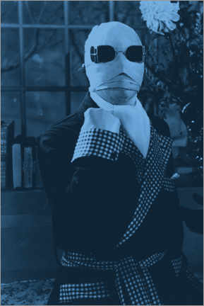 Print på skumplade  The Invisible Man (1933)