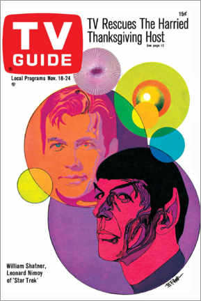 Print på aluminium  Star Trek - Retro Cover 1967 - TV Guide