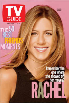 Print på aluminium  Rachel - Friends - TV Guide