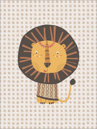 Premium-plakat Tribal lion