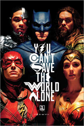 Premium-plakat  Justice League - Can't save the world alone