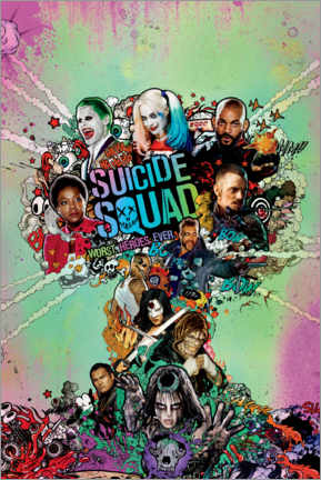 Akrylbillede  Suicide Squad - Worst Heroes Ever