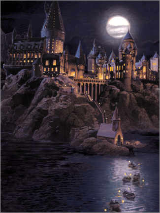 Premium-plakat  Harry Potter - Boats to Hogwarts