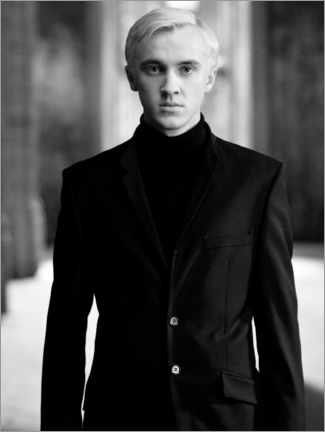 Akrylbillede  The Half-Blood Prince - Draco Malfoy bw portrait