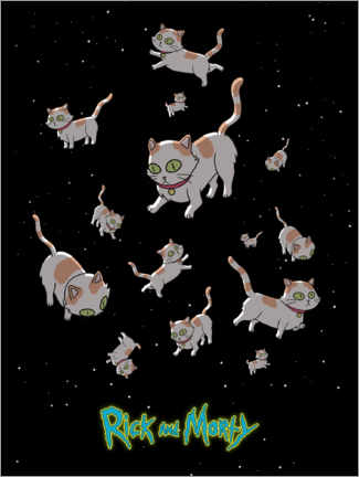 Akrylbillede  Rick and Morty - Space Cats