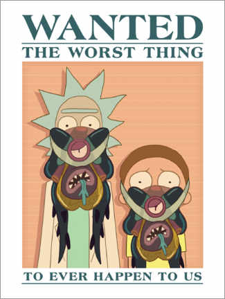 Print på træ  Rick and Morty - The worst thing