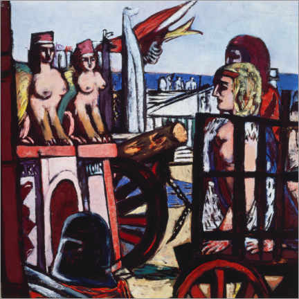 Galleritryk  Removal of the sphinxes - Max Beckmann