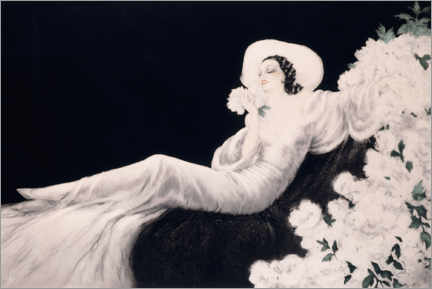 Akrylbillede  Loves the bloom - Louis Icart