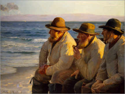 Lærredsbillede  Udsigt over havet - Michael Peter Ancher