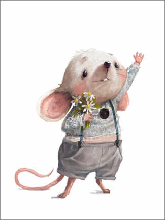 Premium-plakat Greetings from the mouse