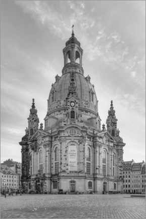 Akrylbillede  Frauenkirche in Dresden black and white - Michael Valjak