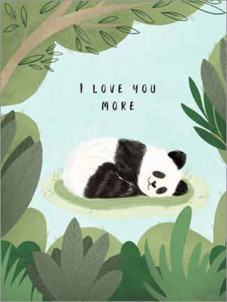 Premium-plakat  I love you more - Nikita Jariwala