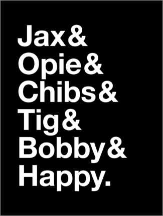 Premium-plakat Sons Of Anarchy - Names