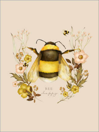 Premium-plakat Floral with bee