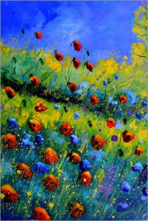 Print på aluminium  Poppies and poppies - Pol Ledent