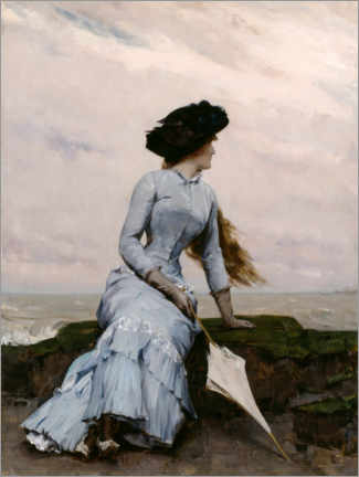 Akrylbillede  Look out to sea - Charles Hermans