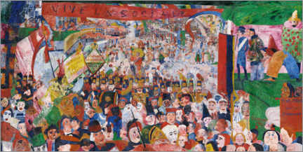 Galleritryk  The entry of Christ into Brussels - James Ensor