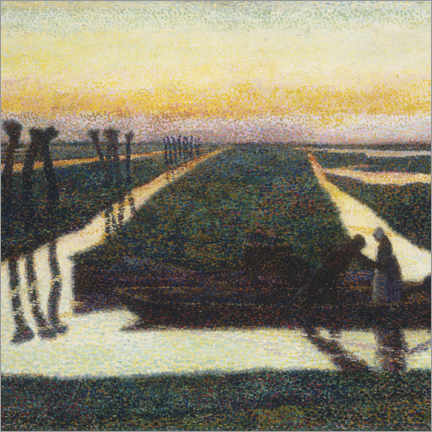 Print på aluminium  Broek in water country - Jan Toorop