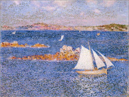 Premium-plakat  By the rocks of Per-Kiridec - Theo van Rysselberghe