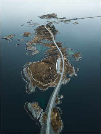 Galleritryk  Atlantic road from above - Lukas Saalfrank