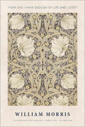 Akrylbillede  William Morris - Life and love - Museum Art Edition