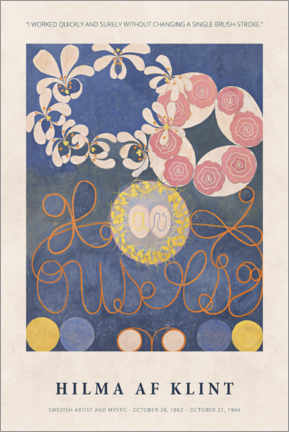 Galleritryk  Hilma af Klint - Quickly and surely - Museum Art Edition